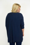 Navy Knit Cardigan - Plus Size
