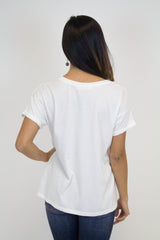 Ivory Short Sleeve Top