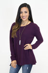 Begley Purple Knit Sweater