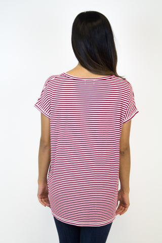 Cardinal Stripe Wide Sleeve Piko