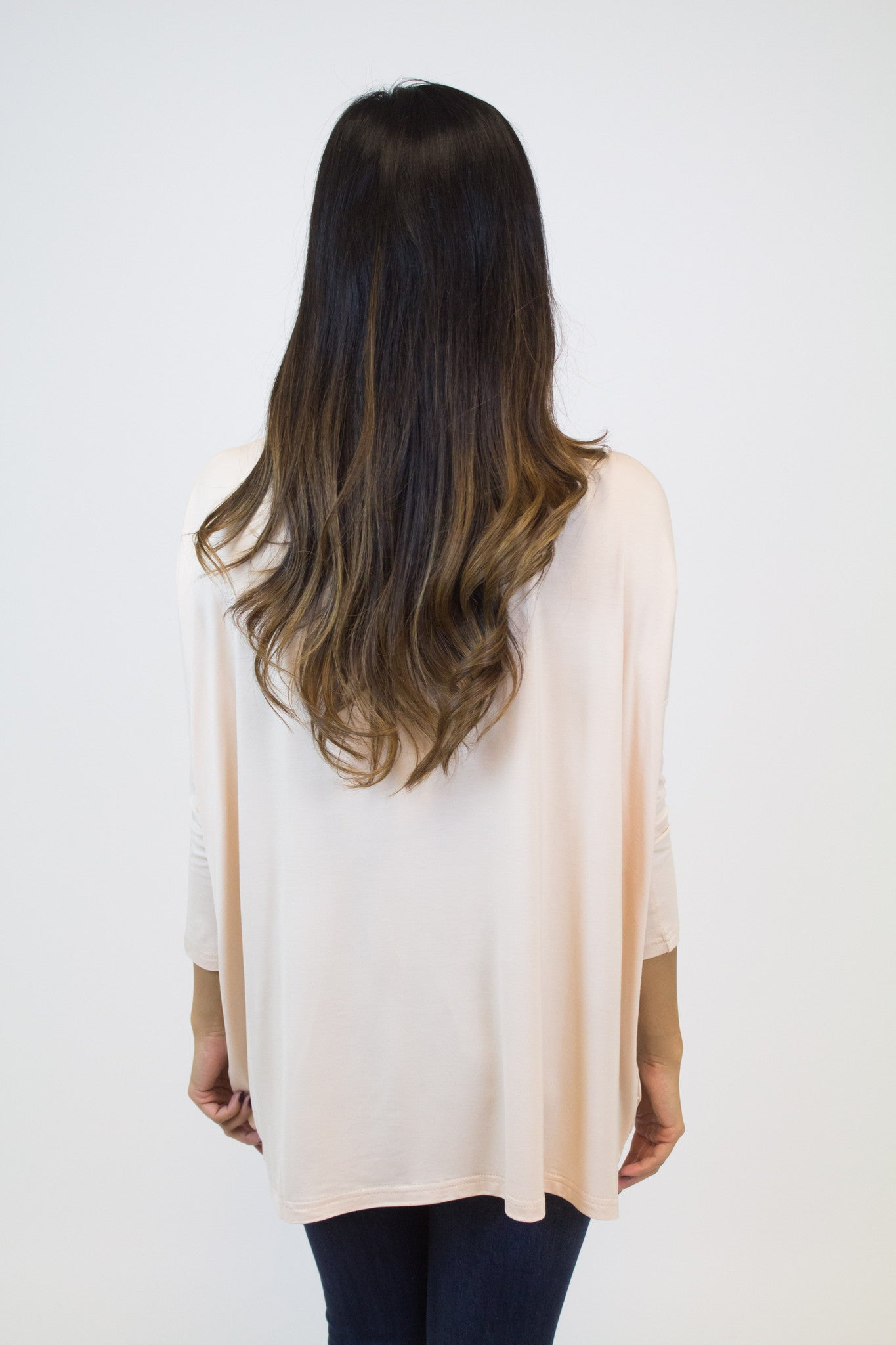 Cream Blush 3/4 Sleeve Piko Top