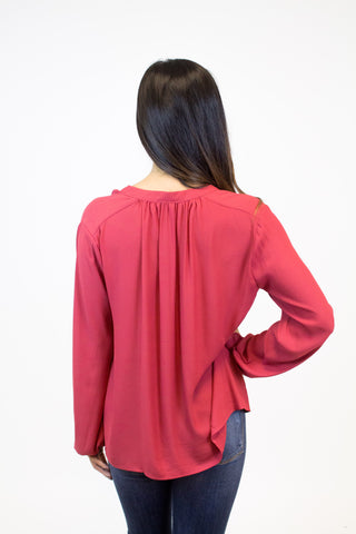 Garnet V-Neck Blouse