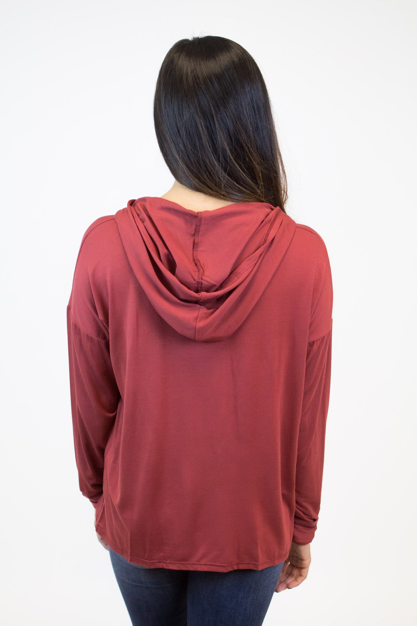 Rust Long Sleeve Hood Top