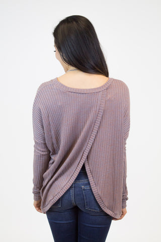 Purple Ribbed Top
