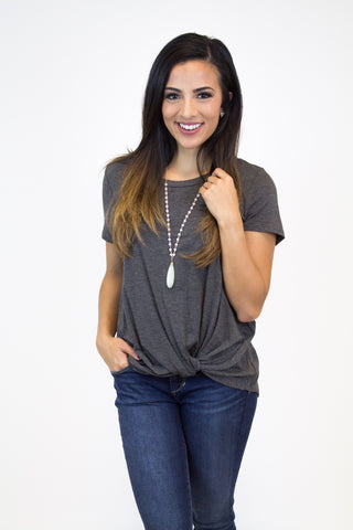 Charcoal Knot Top