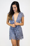 Pewter Lace Romper