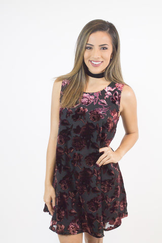 Britannia Floral Velvet Dress - BB Dakota