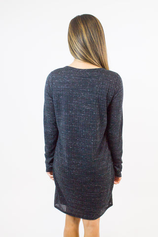 Black Blend Knit Reindeer Dress