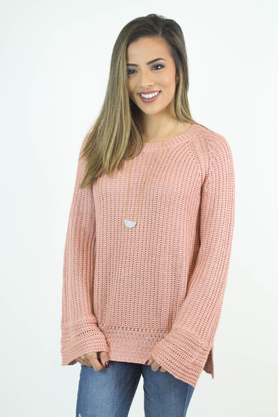 Blush Knit Pull Over Sweater