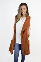 Rust Trench Long Vest