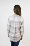 Grey + Ivory Plaid Top