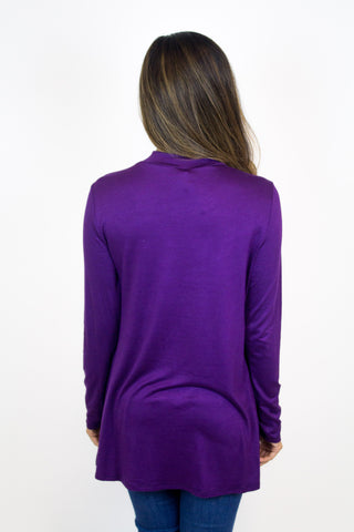 Plum Mock Top