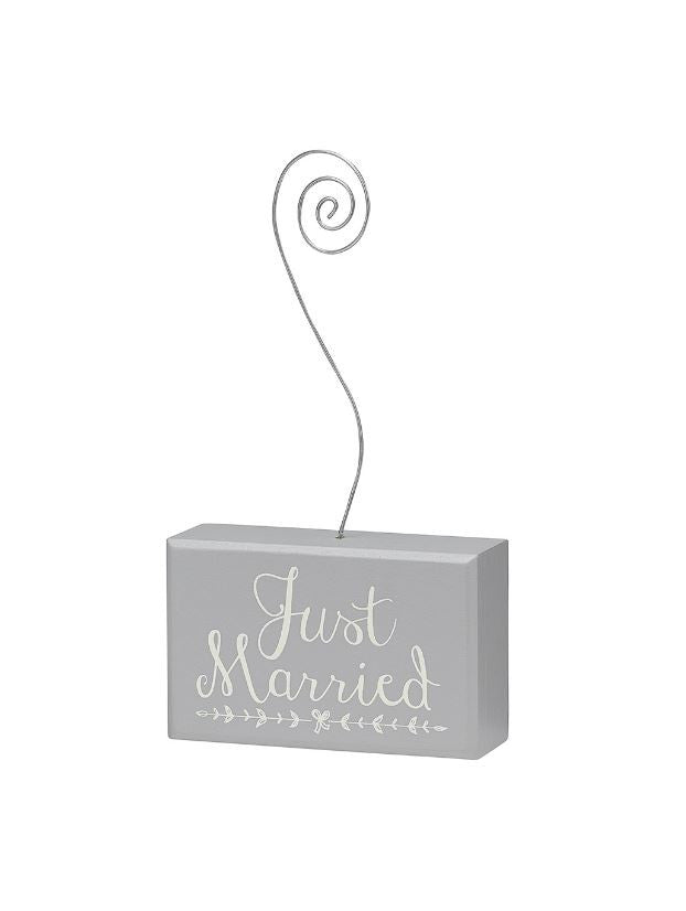 Just Married Photo Holder
