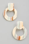 acetate multi stud earrings