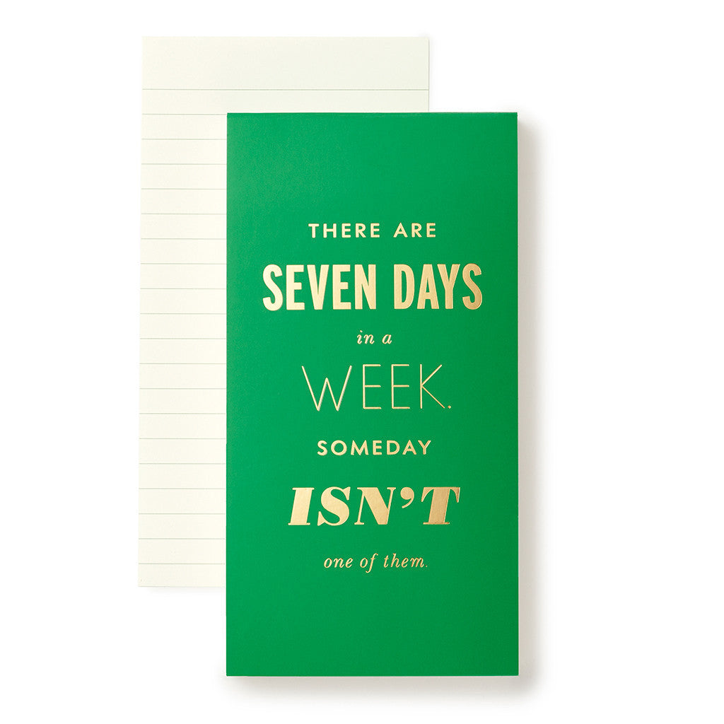 Seven Days a Week {Large Notepad} - Kate Spade New York