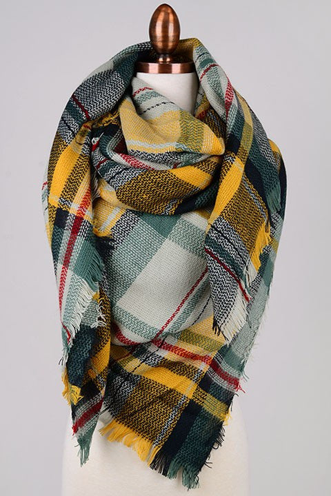 Blanket Scarf - Green