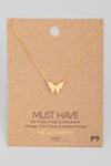 mini butterfly pendant necklace - gold