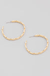 dainty chain link hoop earrings