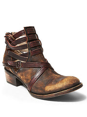 Stair Brown Bootie - Freebird by Steve Madden