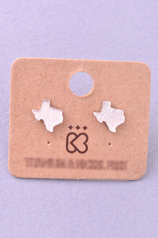 Texas Stud Earrings - Silver