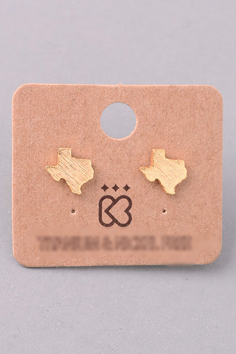 Texas Stud Earrings - Gold