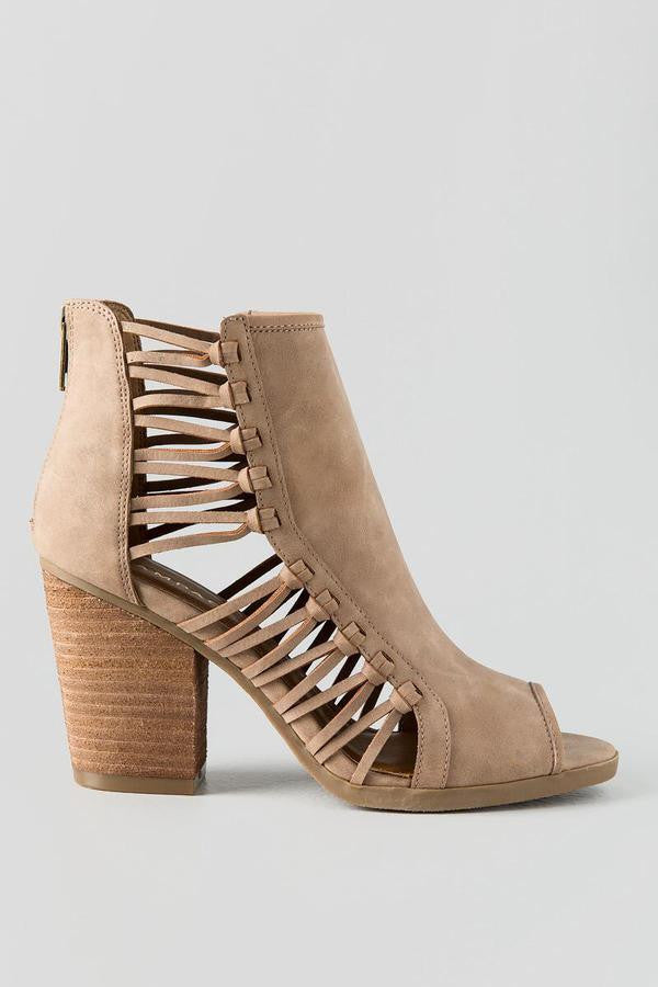 Viva Natural Peep Toe Heel