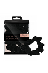 Satin Sleep Scrunchies - Black