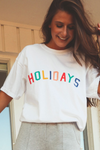 rainbow holiday tee