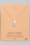 Pineapple Pendant Necklace - Silver