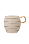 Striped Mug w/ Gold Rim