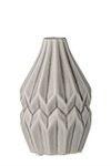 Cool Grey Fluted Vase