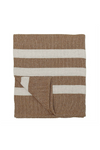 Knit Stripe Throw - Rust