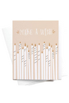 Make a Wish Birthday Candles Card
