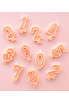 Peach Number Candles