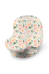 Peach Floral 4-In-1 Multi-Use Cover