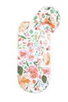 Peach Floral Swaddle Cocoon + Hat Set