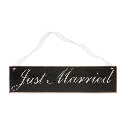 Just Married Cursive Sign