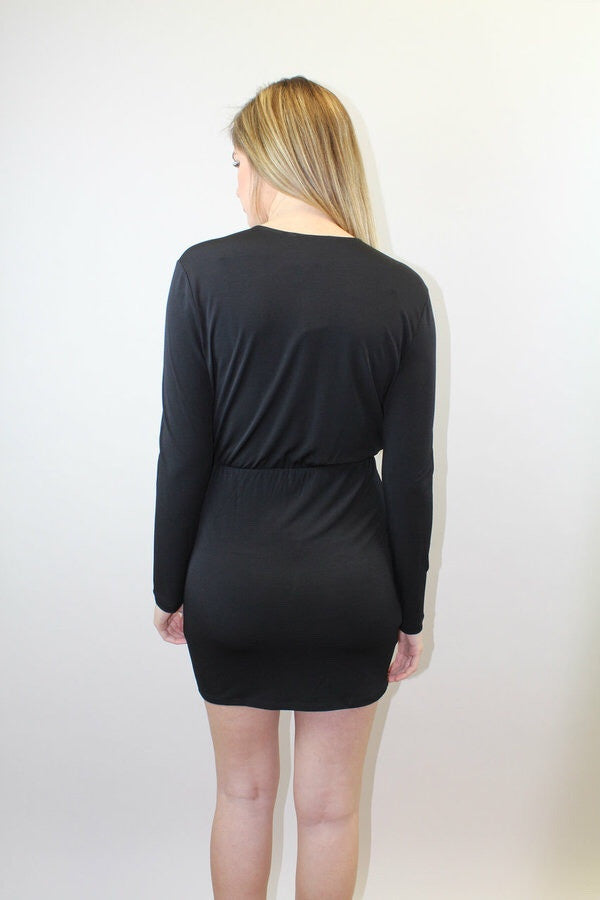 Black Long Slv. Coctail Dress - BCBGeneration