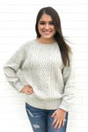 Knit Tie Back Sweater - Ivory