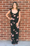 Black Floral Jumpsuit - Amuse Society