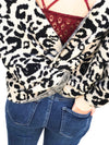Leopard Twisted Back Sweater