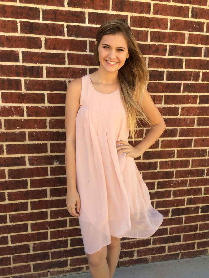 Rose Pink Pleated Dress - BCBGeneration
