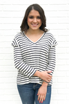 Marinero Top - Navy + White