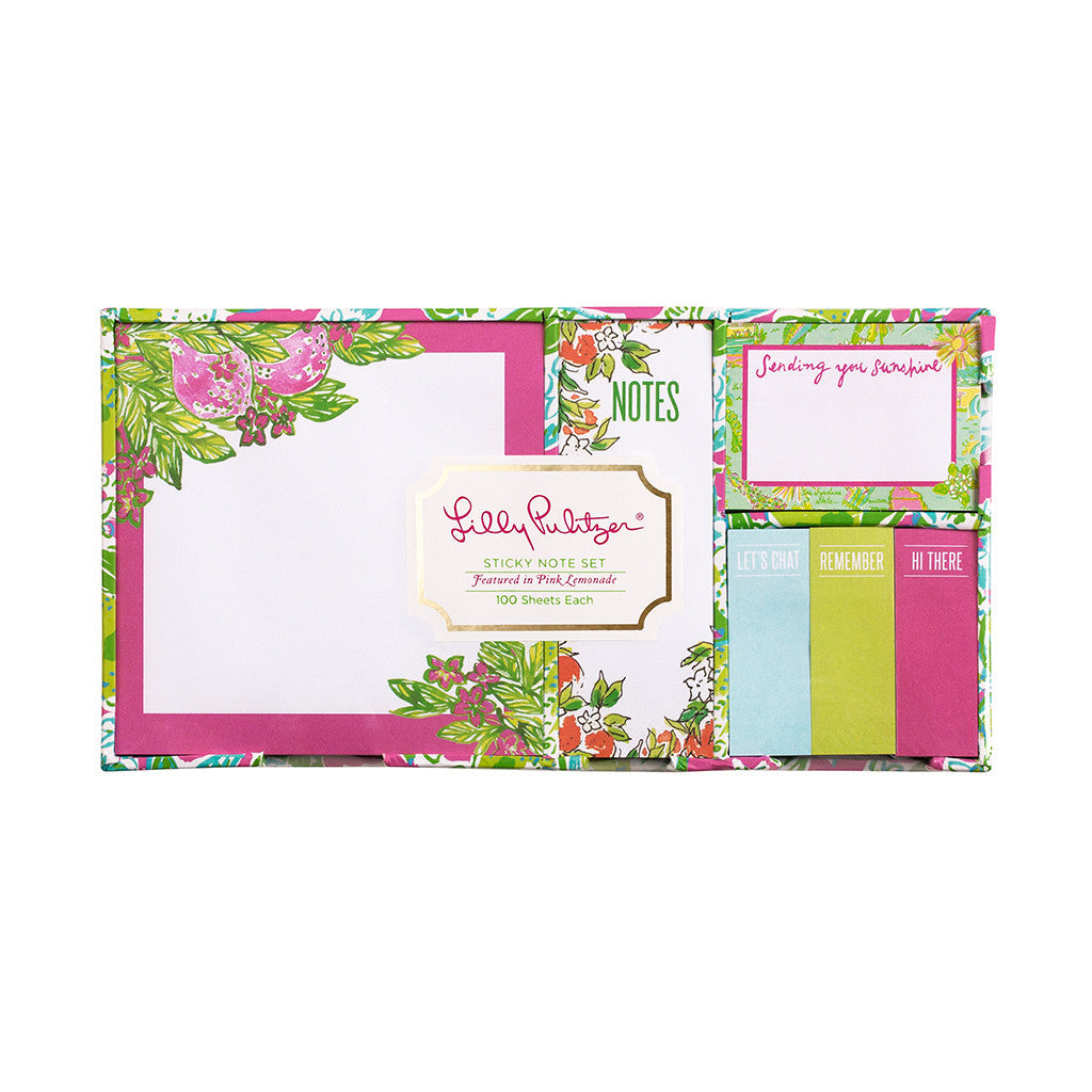 Sticky Note Set {Pink Lemonade} - Lilly Pulitzer
