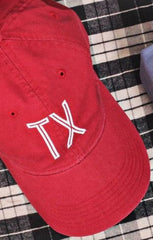 Red Retro State Hat - Texas