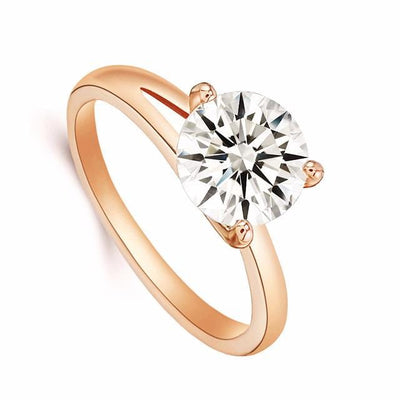AH9QN7AA 18K Gold Plated 3 Claw CZ Diamond Ring