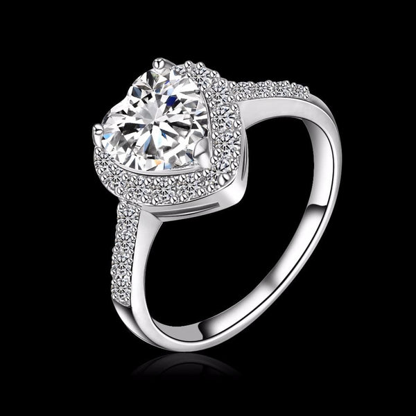 D8OP4753 Platinum Plated CZ Ring