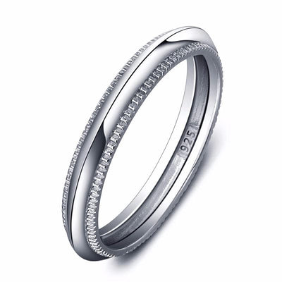 E5QQUF22 925 Sterling Silver Band Ring
