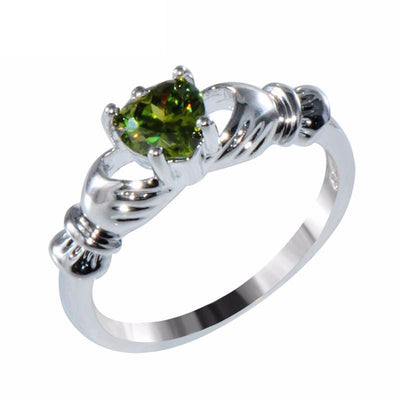 GYIP5TC9 White Gold Filled Emerald CZ Ring