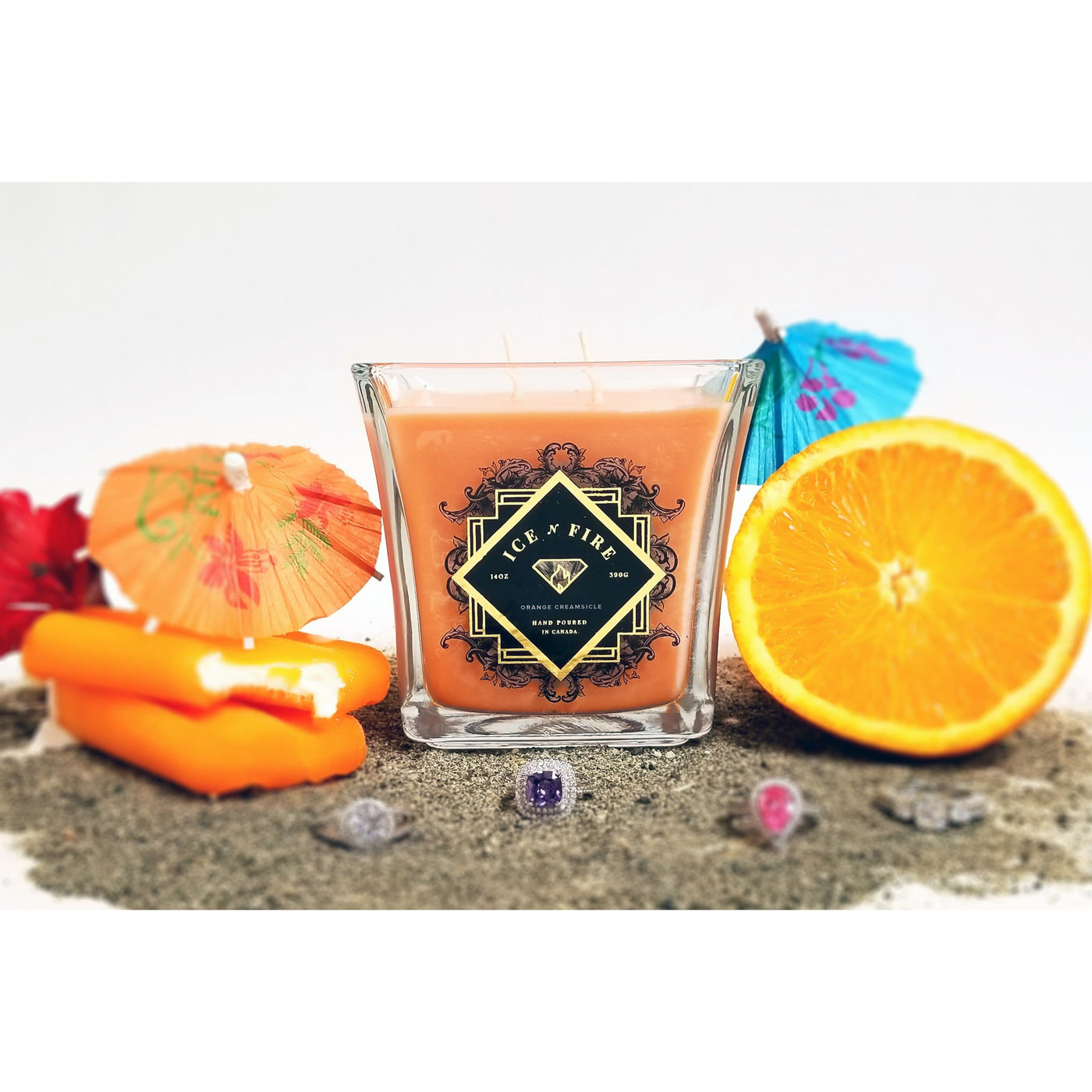 Orange Creamsicle Ring Candle